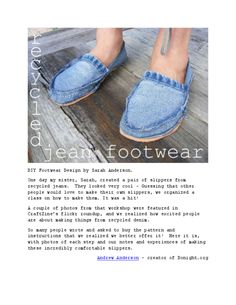 Recycled Jeans Slippers - Detailed Instructions with tons of Photos