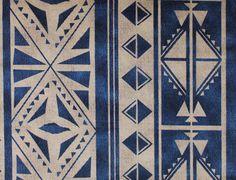 Apache in Blu from C&C Milano #blue #geometric #linen #textiles #fabric #interiordesign #designinspiration #thetextilefiles #clothandkindinteriordesign #ccmilano
