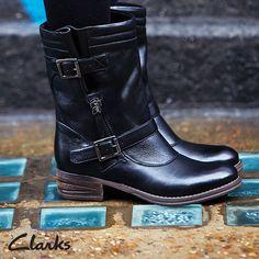 Clarks Autumn/Winter 2014 Collection | Women's Boots | Mezze Rose | Moto boots | Biker boots