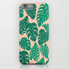 """""""Cheese Plant"""" iPhone Case by Andrea Lauren Design on Society6."""