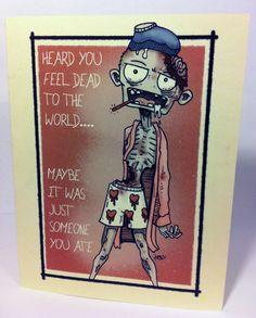 I Chew Chew Chews You Zombie Valentine Card  Geeky Valentines