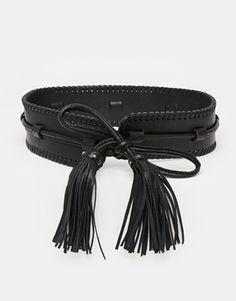 Becksondergaard Leather Waist Belt With Oversized Tassels