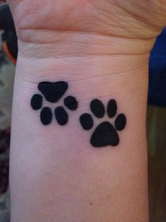 Paw prints for my boys, miss them every day :(