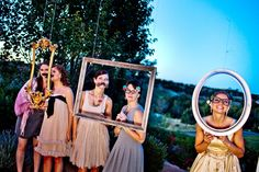 No need for a photobooth - Just hang a few frames around and you're good to go!  Photography by twinlensimages.com