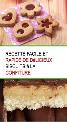 Recette facile et rapide de délicieux biscuits à la confiture #Recette #Rapide #Delicieux #Facile #Biscuits #Cuit #Confiture