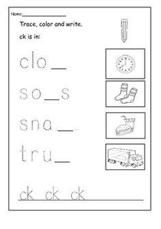 ck worksheets - Google Search | 1st Grade | Pinterest | Worksheets ...