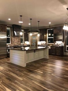 I love the wood floors with the silver and brick. It looks modern and rustic at the same time? Crown Molding, Pantry, Projects, Kitchen Remodel, Ideas, Home Decor, Homemade Home Decor, Walk In Pantry, Ceiling Coving