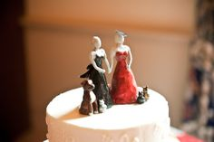 Pets on the cake topper!