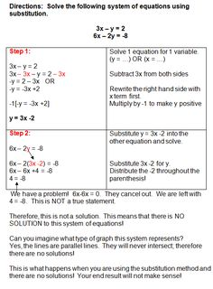 Substitution Method Worksheet Answers 50 Substitution Method Worksheet Answers In 2020 Solving Linear Equations, Systems Of Equations, Math Lesson Plans, Math Lessons, Statistics Math, Persuasive Writing Prompts, Maths Exam, Algebra Worksheets, Math Notes