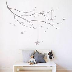 Cute Kinderzimmerdekoration Wandtattoo Kinderzimmer Stellar Zweig Sticker ein Designerst ck von taia s