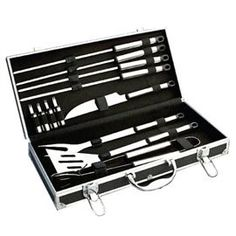 You'll serve a perfect steak with these BBQ tools. Comes in a handy aluminium case to keep it all together Perfect Steak, Bbq Tools, Housewarming Gifts, House Warming