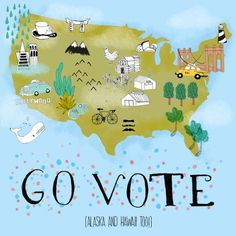 This land was made for you & me! USA #GoVote map submitted by Jennifer Reynolds. Find hundreds of#GoVote&#Votaartwork atgovote.orgyou can share to encourage your friends, family and neighbors to vote on November 4th. Follow us onTwitter,Facebook,Instagram, andPinterestfor all the latest art and updates!