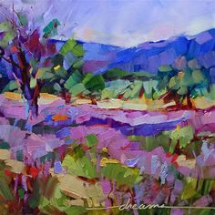 """Daily Paintworks - """"High on Lavender"""" - Original Fine Art for Sale - © Dreama Tolle Perry"""
