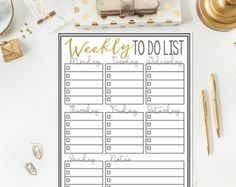 Weekly To Do List - Instant Printable