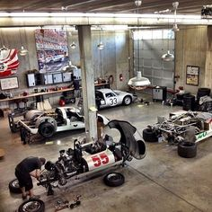 50 Man Cave Garage Ideas - Modern To Industrial Designs Nothing is more rewarding than a manly full-scale garage renovation. When your residential options are limited, these 50 man cave garage ideas will help. Ferdinand Porsche, Man Cave Garage, Car Man Cave, Gas Monkey Garage, Dream Cars, Garages, Porsche Factory, Dream Car Garage, Architecture