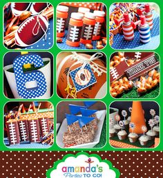 Football Party Football Birthday Printable by AmandasPartiesToGo