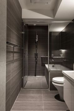Perfect Modern Walk In Shower Designs With Virtuel Reel Slate Tiles And Modern  Bathroom   Modern Bathroom