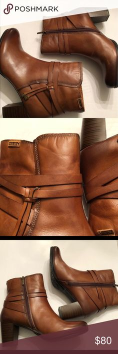 Pikolinos booties new condition Pikolinos brown leather boots new condition!! Fits 8.5 PIKOLINOS Shoes Ankle Boots & Booties