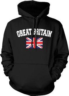 Amazon.com: Great Britain Flag Mens Sweatshirt, British Pride Pullover Hoodie, Small, Red: Clothing