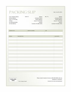 Sample Packing List Template  Packing List Template