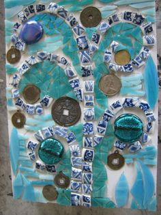 Mosaic By Kat Gottke ,, called Money Tree