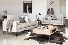 Ealing 2 Piece Fabric Lounge Suite by Evan John Philp | Harvey Norman $3999