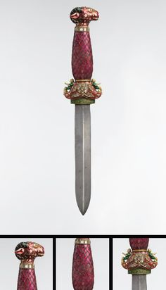 Jeweled and Enameled Ram's Head Dagger  •Object Name: Dagger  •Date: 18th–19th century  •Geography: India, probably Jaipur