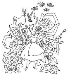 Top 10 Free Printable Alice In Wonderland Coloring Pages