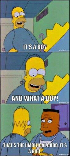 Homer meets Maggie