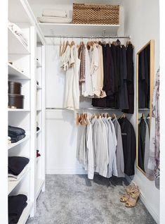 Klädkammare grå helteckningsmatta