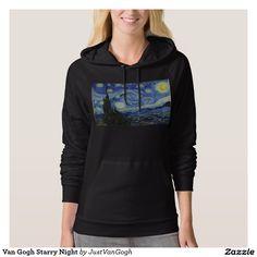 Van Gogh Starry Night Hooded Pullovers