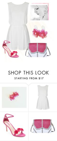 """White & Pink"" by styledonna on Polyvore featuring moda, Topshop, Betsey Johnson i Emeline Coates"