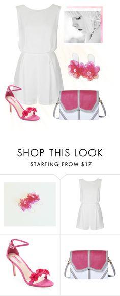 """White & Pink"" by styledonna on Polyvore featuring moda, Topshop, Betsey Johnson i Emeline Coates"