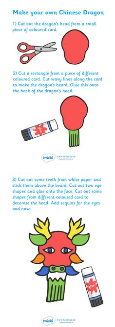 Make Your Own Chinese Dragon (Chinese New Year)  - Pop over to our site at www.twinkl.co.uk and check out our lovely Chinese New Year primary teaching resources! chinese new year, chinese dragon, craft, chinese new year craft #chinese_new_year #teaching_resources
