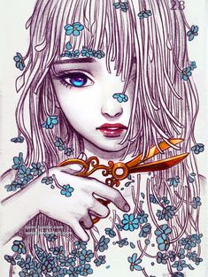 Pin de katty yac em картинки art, drawings e qinni Art And Illustration, Art Illustrations, Beautiful Drawings, Cool Drawings, Qinni, Art Girl, Amazing Art, Fantasy Art, Cool Art