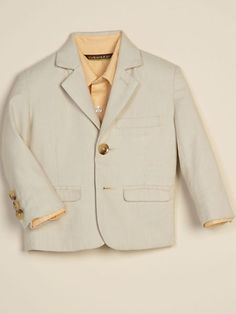 Ring Bearer blazer with pink or orange shirt underneath