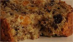 Bolo de frutas sem glúten e açúcar. Bread Machine Recipes Healthy, Easy Bread Recipes, Sweet Recipes, Baking Recipes, Healthy Recipes, Easy Snacks, Easy Desserts, Dessert Recipes, Bread Shop