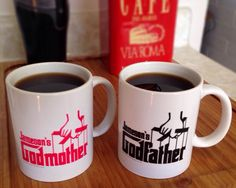 Personalized Godparent Coffee Mug Set a great custom gift for godparents.
