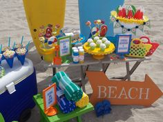 """""""Beach Bash"""" themed birthday party! This would be nice for pool parties too!"""