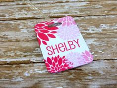 Set of 2 Personalized Floral Bag tag by Purely Personalized | Hatch.co