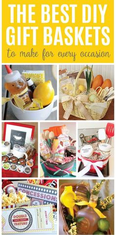 These DIY gift baskets are easy, personal and sure to be a hit. Check out these creative and versatile gift giving ideas now!