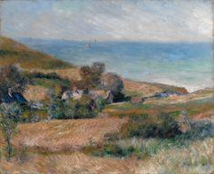 Auguste Renoir VIEW OF THE SEACOAST NEAR WARGEMONT IN NORMANDY https://dashburst.com/david-goldberg/293