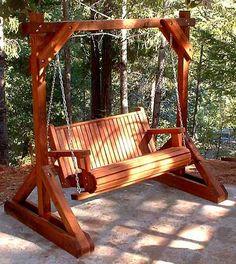 Porch Swing Frame Plan Building Plans For Porch Swing Frame House Design Outside Furniture, Garden Furniture, Outdoor Furniture, Outdoor Decor, Porch Swing Frame, Pergola Swing, Backyard Projects, Outdoor Projects, Backyard Swings