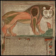 """Liber Floridus (""""book of flowers"""") is a medieval encyclopedia that was compiled between 1090 and 1120 by Lambert, Canon of Saint-Omer. Image from a tumbler site, original shown below.."""