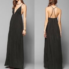 silence + noise black triangle bust maxi New without tags. No trades or Paypal please  Urban Outfitters Dresses Maxi