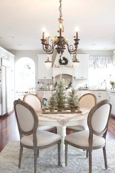 Christmas Home Tour 2017 - French Country neutral kitchen