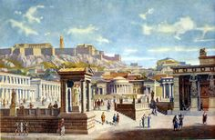 Polis - city-state was a basic political & institutional unit of Greece.  The Acropolis was an elevated point within a city where the temples, alters, & public monuments stood.  The Agora was a public square or marketplace that was the political center of Greece.
