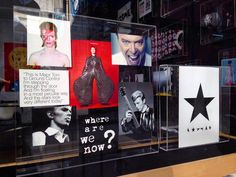 Tribute to David Bowie at Boox Lisboa Store. #davidbowie #boox