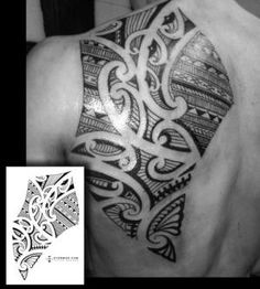 A custom back/shoulderblade tattoo design - Mark Storm/Flickr