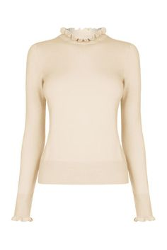 Oasis, THE FRILL KNIT Pale Pink 0